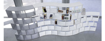 River Modular Dividing Bookcase by Antonello Italia