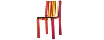 Rainbow Chair by Cappellini- From Contemporary Home :  luxury european chair cappellini