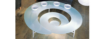 Spiral Coffee Table by Cattelan-Italia- From Contemporary Home :  modern spiral coffee table italian luxury