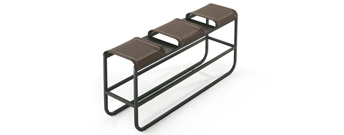 Tandem High Bench by Ego Paris