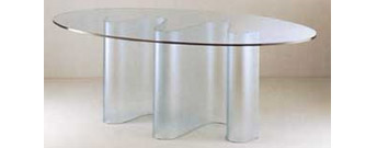 Marea Glass Table by Fiam Italia