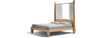 Temenos 2 Poster Bed by Giorgetti