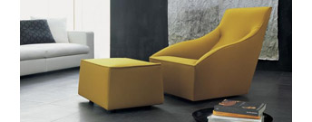 Doda Armchair and Easy Pouf by Molteni & C