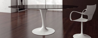 Flute Round Table by Sovet Italia